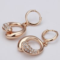 annulus plant - Brand new sale pairs k rose gold gemstone Annulus earrings DFMGE035 Factory direct women s rose gold crystal Stud