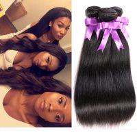 beauty weave extensions - 2016 Queen Weave Beauty Hair Bundles Peruvian Virgin Hair Straight Cheap Brazilian Malaysian Indian Cambodian Straight Hair Extension