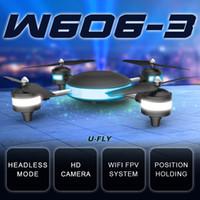 al por mayor rc avión llevó luces-2016 Whosale venta caliente HJW606-3 plano de aire RC 4D rodar 2.4G 7.4V con cámara WIFI 2MP FPV RC modelo de avión aéreo Quadrocopter con luz LED