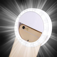 Wholesale Portable Selfie Flash LED lights Phone Camera Ring Light model light fill light For Apple Iphone Samsung HTC