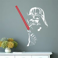 Wholesale Star War robot soldier new hot movie poster Darth Vader home decal removable wall stickers for kids room