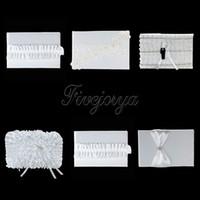 16cm x 25cm Blanc Dentelle Diamante Boucle Fleur Rose Satin Ruban Bow Livre d'Or pour Cérémonie de mariage Party Decoration 5 Styles