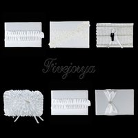 Wholesale 16cm x cm White Lace Diamante Buckle Flower Rose Satin Ribbon Bow Guest Book for Wedding Ceremony Party Decoration Styles