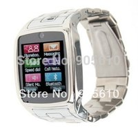 Wholesale 2013 new watch phone TW810 Quad Band Camera Bluetooth Java GPRS inch Touch Screen Watch Phone Silver or Black Free Ship