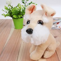 bear ear beanie - 1pc18cm Schnauzer Beanie Boos Big Eyes Husky Shar Pei Plush Toy Doll Stuffed Animal Cute Plush Toy Kids Toy long ear dog L179