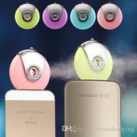 beauty apparatus wholesale - Mini Portable Beauty Hydrating Instrument Mobile Phone Special Humidifier USB Spray Apparatus Electric Aromatherapy for iPhone s Android