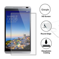 Wholesale Qiaogle Anti explosion Tempered Glass Screen Protector Ultra Hard For Huawei MediaPad M1 inch Premium Screen Protector