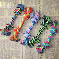 Wholesale LOVELY Colorful Pet Bitten Rope for Dogs Double Knot Cotton String Pet Toy Small Pet Rope Toys