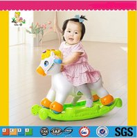 Wholesale Rocking Horse New Extra Thickness Plastic Large Rocking Jumping Horse Child Inflatable Horse Ride Baby Fitness Sports Toy