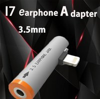 Wholesale High quality Phone Hearphone Adapter for iPhone I7 plus Data Cable Adapter Cords for I7 i7 plus Cell Phone Accessories