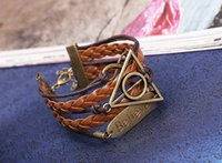best unique christmas gifts - 2016 Time Pawnshop Bronze Deathly Hallows Believe Multilayer Unique Adjustable Braided Leather Bracelet Best Christmas Gifts