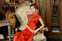 b tea - The Spring Of The New Bride Wedding Dress Red Traditional Chinese Wedding Toast Long Cultivate One s Morality B