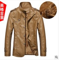 Wholesale Fall winter men s leather jacket collar PU leather men leather men leather jacket season clearance