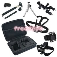 Wholesale Cam Accessories - Go Pro Accessories Set For GoPro Hero 4 Session 2 3 3+ Sjcam SJ4000 for xiaomi yi action cam with Collection Bag Case