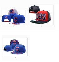 Wholesale MIX ORDER NEW Cubs Baseball Snapback Adjustable Caps Stiched Embroidered Men Women Sports Hats Free Drop Ship sunnee