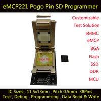 applied industrial - eMCP221 Test Socket SD interface Pogo Pin Nand flash reader BGA221 Apply to eMCP size x13mm Pitch mm Adapter Data Recovery