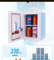 used refrigerators - 10L Unique Top Grade Car refrigerator home fridge freezer icebox HOT and COLD box dual use V V