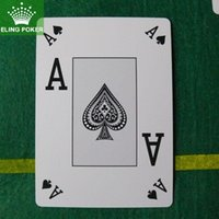 Wholesale large print four corners Spain CASINO Plastic Poker playing cards poker cards card games poker set