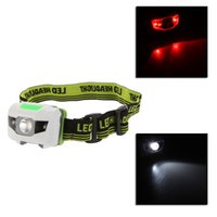 Wholesale Portable Mini W white LED light Modes red LED flashlight Headlights for Camping Night Fishing Headlamps Outdoor use Lighting Y0053