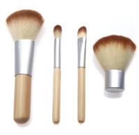 beautiful pc case - Makeup Brushes Set Kit Beautiful Professional Bamboo Elaborate make Up brush Tools With Case zipper bag button bag DHL Free