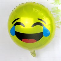 air brush supplies - 45 cm round balloon brush tears foil balloons baby shower smile face air globos forbirthday party supplies