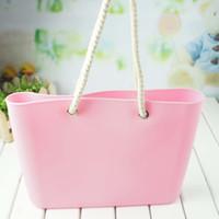 beach gel - Korea candy colored women O bag jelly large package shoulder silica gel handbags Beach leisure O EVA ladies handbags tote bag sac dos