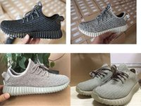 Wholesale Real Photo YZY Boost Super Perfect Verstion us men running shoes man basketall black grey whtie moon rock dove eur