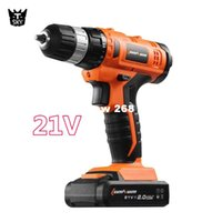 Wholesale 21V Adjust speed mini Manual Electric Screwdriver Cordless charging Drill bits Lithium Battery Rechargeable hand Power Tool sets