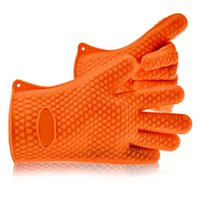 Wholesale A Pair Silicon Ove Glove Oven Hot Surface Handler BBQ Hold Silicone Grill Gloves for Kitchen Microwave