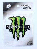 Wholesale 100 Sheets Drink Logo Patch Iron on Cartoon pattern Patch Sticker Appliques Children pvc accessories
