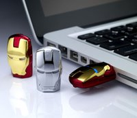 Wholesale 100 real capacity Justice League Heroes Iron man USB Flash Drive U Disk Creativo Pendrive Memory Stick Disk Gift S112