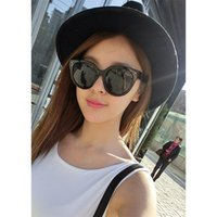 Wholesale South Korea Designer Big Frame Sun Glasses Vintage Retro Rivet Women Face Fit Sunglasses UV400