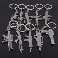 ak key - New Fashion Imitation Metal Alloy AK M4 Gun Keychain Key Chains Ring Quality Classic Metal Gun Pendant Keyring Keyfob Gifts
