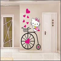 animations housing - hot movie cat cute Animation Cartoon DIY For Kids Girls Bedroom house decoration Art Decals home Decor Vinyl Wall Stickers