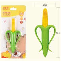 Wholesale Corn bananas Silica gel baby Teether Children s teeth stick toys