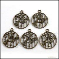 antique bronze paint - 90pcs Antique Bronze Painting Sign Pendant Charms For Charm Bracelets Pendants x24x2mm