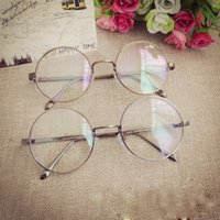 antique gold frames - 2016New Retro Oval Antique Glasses Frames Male Full Frame Metal Gray Clear Lens Frames For Women Optical Glasses L