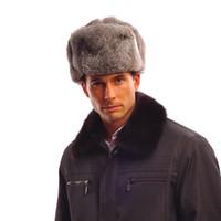 aviator helmet - Natural Genuine Real rabbit fur bomber trapper hats women winter Aviator hat Helmet caps hunting hat