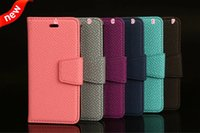 straw mat - Wallet Leather Case Straw Mat Grain Stand Pouch Photo Frame ID Card Slot TPU Money Holder For Iphone S Plus I6S Skin Cover Luxury