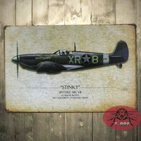 airplane metal signs - Christmas Decoration Metal Craft The airplane paintings Tin Sign Bar Decor Wall Metal poster B
