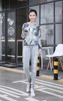 ad panels - 2017 Hot sales high quality ADs women Leisure sport suit Slim Lotus leaf Round neck plus cashmere suits long sleeve suit size M XL