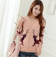 Wholesale Full Limited Sueter Poncho Pullover Women Sweater Autumn winter New Cardigan Reindeer Ling Zipper Coat Sweaters And Knitted