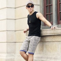 Wholesale Male Tops Fashion Brand Fitness Sport Tank Tops For Men High Quality Cotton V Neck Solid Slim Sleeveless Workout Tops
