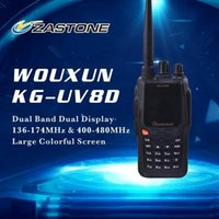 Wholesale WOUXUN KG UV8D Transceiver Dual Band Walkie Talkie VHF UHF Ham radios Handheld Two Way Radios chs CB radios
