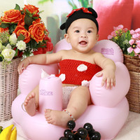 Wholesale Hot Sale Small Infant Baby Soft Inflatable Sofa Chairs Child Bath Stool Chair Portable Baby Learning Seat