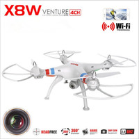Wholesale Syma X8W RC Quadcopter RC helicopter FPV WiFi Real Time G CH Axis with Camera toys black white