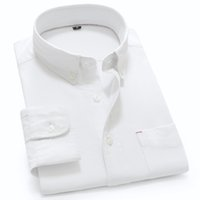 Wholesale Please Check Size Carefully Cotton Mens Brand Shirt Long Sleeve Solid White Dress Shirt for Summer Slim Fit