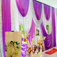 big easy express - Express free customized color wedding stage backdrops decoration romantic wedding curtain with big swags Easy to make CR