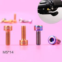 Wholesale M5 mm Titanium bolts MTB Mountain bike bicycle Conjoined DIP bolts Ti screws ultralight