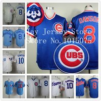 andre dawson baseball - Andre Dawson Jersey Vintage Chicago Cubs Montreal Expos Cooperstown White Blue